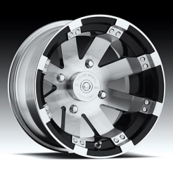 Felga Vision Wheel 158 Buckshot Gloss Black Machined Face 12x8 2+6 4/110