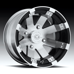 Felga Vision Wheel 158 Buckshot Gloss Black Machined Face 15x7 4+3 4/156